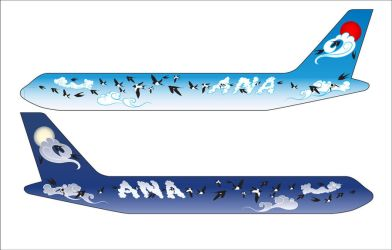 ANA aircraft body design by Helgajas