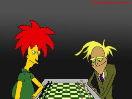 Chess Match: Sideshow Bob vs Freaky Fred by VoyagerHawk87