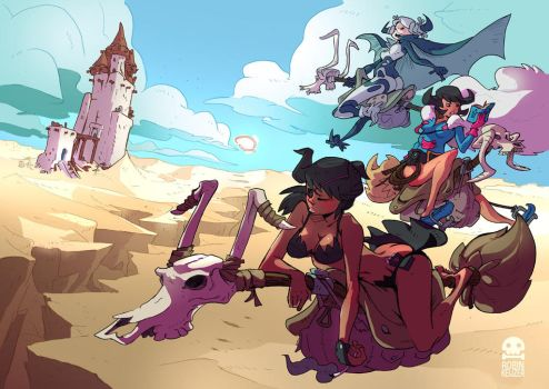 Witches in the Desert by RobinKeijzer