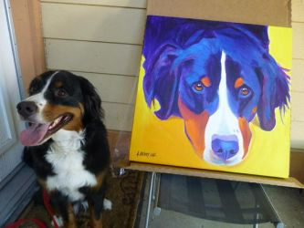 Reagan and her painting by dawgart