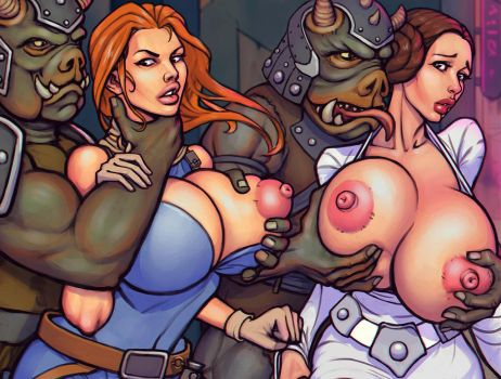 Leia and Mara. Page 1 [fragment] by boobsgames