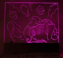 Pinkie Pie Party Acrylic LED Picture by steeph-k