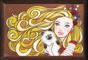 Barbie Hair and Kitten Paws by magic-circle