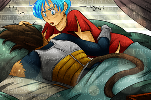 DBZ - Vegebul - Asleep by RedViolett