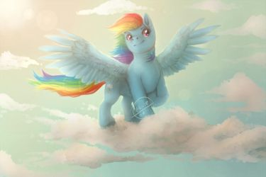 Dash and Clouds by Zhiibe