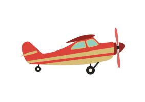 Airplane Flat Vector by superawesomevectors