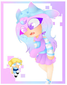 Gradient Girl meets Bubbles by CatGirl22111