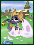 (Spyro the Dragon) Hatching Out of His Shell by KrazyKari
