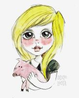 Lady with the Pig by DixieLeota