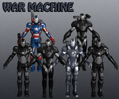 War Machine Marvel Heroes XNALara by Xelandis