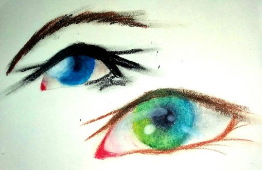 Oil Pastel Practice by HESEuthyphro
