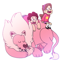 Precious Children and Their Pink Pals by BlueOrca2000