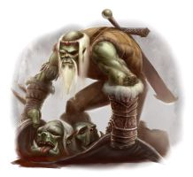 Halforc - Orc Slayer by ScottPurdy