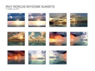 Iray Worlds Skydome Sunsets by cerragirl