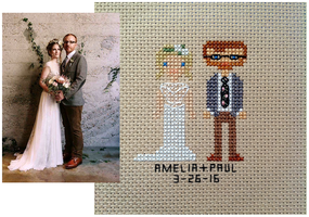 Amelia and Paul Wedding Sampler by pinkythepink
