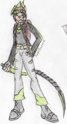 Xeno's new outfit colored by Fire-Dragon10