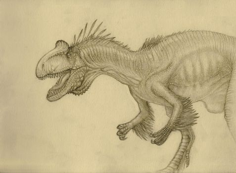 Cryolophosaurus doodle by SpinoJP