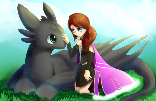 Ada And Toothless by Togechu