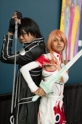 Kirito and Asuna from Sword Art Online by Xuljia
