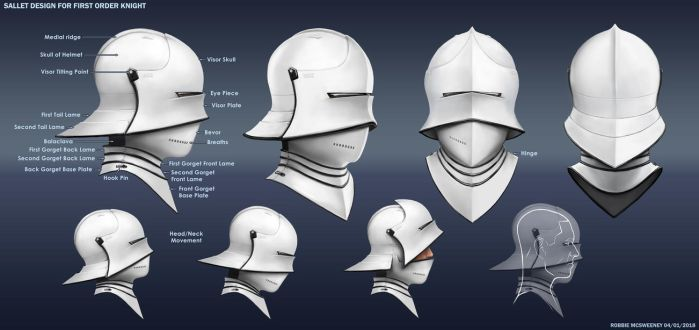 First Order Knight Sallet by RobbieMcSweeney