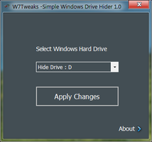 W7T - Simple Windows Drive Hider by rmgrms