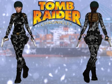 Tomb Raider 5: Russia Camo Outfit by lady-zomkie