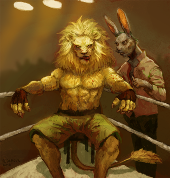 Lion Fighter Web by pinkCEO