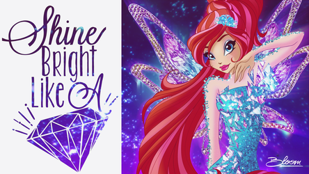 Winx club 7 - Bloom 2D tynix transformation by KeroCreations