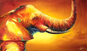 Fauvism Elephant by logancure