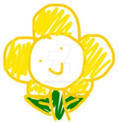 Flowey the flower quick doodle by valgal5567