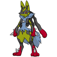 Shiny Mega Lucario Global Link Art by TrainerParshen