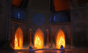 Fireplace of the elements by Alanise