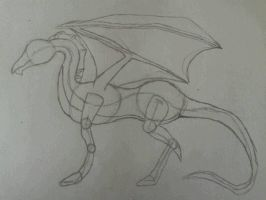 My first dragon ^^ by Alraio
