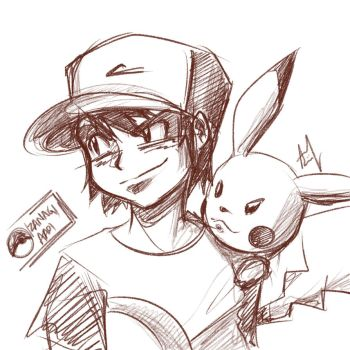 Pokemon Sketch by Iza-nagi