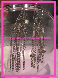 pink, chain, and flowers by Tooi