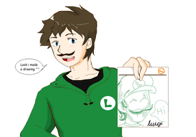 Luigi made a drawing ^^ by 12luigi