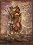 Bastet and Anubis by m-lupus