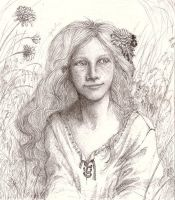 Girl on a meadow by Nawia