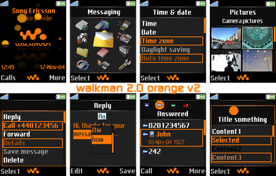 Walkman 2.0 Theme - Orange by culli666666