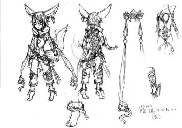Blade and Soul Lyn Costume sketch (Male) by Sarasenia