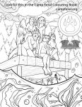 Camp Feral Colouring Conbook by Temrin