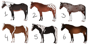 Horse adoptables [OPEN] by WhiskyAndCigars