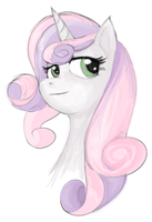 Sweetie Belle Speedpaint by theinkBot