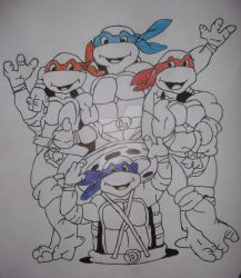 My TMNT Drawing: Completed by anthonyDstark