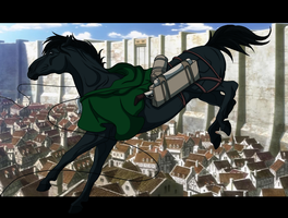Lance Corporal Levi: Stallion by AzziNeh