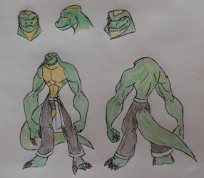 COM - TMNT Komodo Dragon OC by StoneMan85