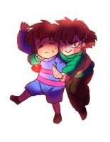 Frisk And Chara From UNDERTALE by CreatorOfCastell