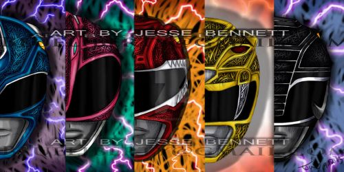 Mighty Morphin Power Rangers by blueliberty