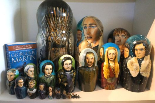 Set of 20 Game of Thrones Nesting Dolls by bachel60