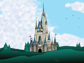 Day Cinderella's Castle Android Wallpaper by Digital-Jedi